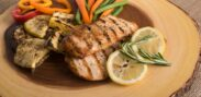 A plate of food rich in lean protein for performance